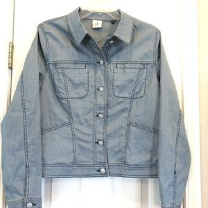 Women's CAbi  Large L pinstripe denim jacket